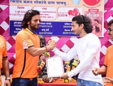Team of Marathi Upcoming film HariOm arranged blood donation camp